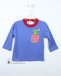 Lily Pads by Acvisa Christmas Gator Pocket L/S Tee