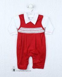 Kissy Kissy CLB Boys Holiday Overall Set