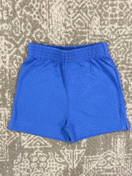 Lily Pads Dark Chambray Plain Knit Shorts