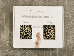 Queen Maddyn Leopard Baby and Momma Robe Set