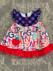 Be Girl ABC Print Apple Swing Dress