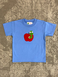 Lily Pads Chambray Apple with Worm S/S Tee
