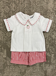 True Apple Embroidered Boy Short Set
