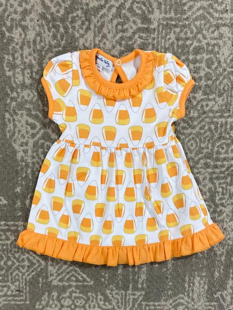 Magnolia Baby Cadny Corn Applique S/S Dress