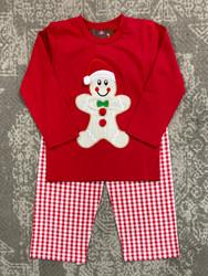 Millie Jay Gingerbread Applique Boys Pant Set