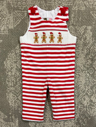 Banana Split Gingerbread Man Smocked Longall