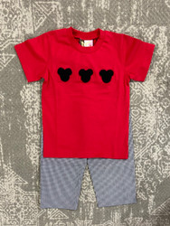 Banana Split Mouse Ears Boys Pant Set