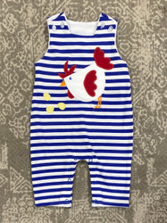 Bailey Boys Rooster Knit Romper