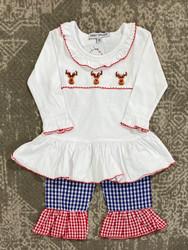 Sweet Dreams Girl Reindeer Knit Set