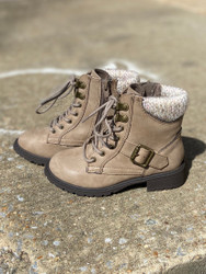 Taupe Zip-Up Boot