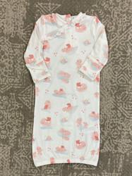 Angel Dear Pink Hippo Kimono Gown