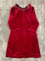 Cranberry Velvet Blair Dress