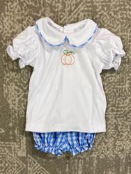 Remember Nguyen Blue Pumpkin Girl Short Set