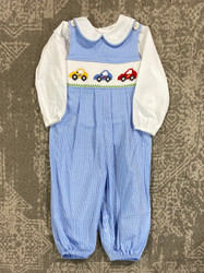 Remember Nguyen Blue Cars Long Romper