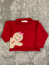 Lily Pads Red Gingerbread Girl Sweater