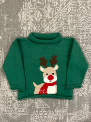Lily Pads Hunter Green Rudolph Sweater