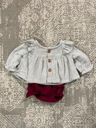 Emma Jean Grey/Crimson Lilly Bloomer Set