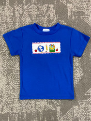 Silly Goose Royal School Days Smocked S/S Tee