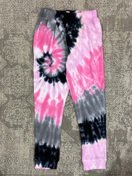 Candy Pink Pink & Grey Swirl Jogger