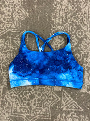 Candy Pink Blue Galaxy Sports Bra
