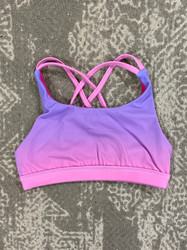 Candy Pink Lilac/Pink Ombre Sports Bra