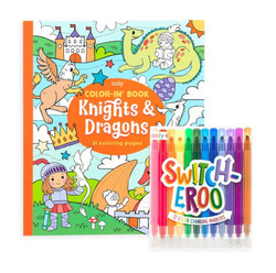 Knights & Dragons Switcheroo Coloring Pack