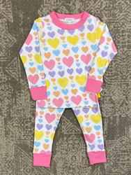 Magnolia Baby Pastel Hearts 2pc Jammie