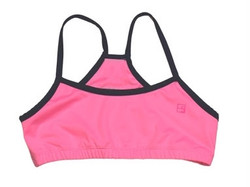 Set Briana Sports Bra- Pink w/Navy
