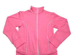 Set Juliet Dry Fit Jacket- Pink w/White