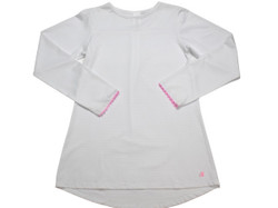 Set Lindsay Long Tee- White w/Pink