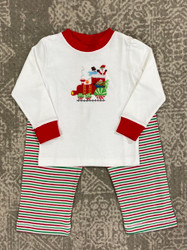 Squiggles Polar Express Applique Pant Set