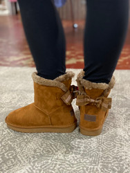 Camel Bow Ankle Boot