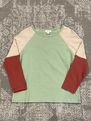 Hayden Olive/Ivory/Rust L/S Tee