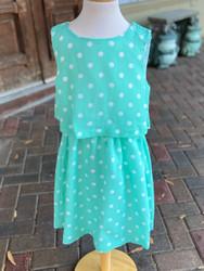 Maggie Breen Seafoam Dot Flowy Dress