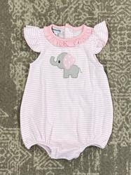 Magnolia Baby Light Pink Elephant Applique Bubble