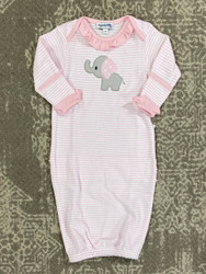Magnolia Baby Light Pink Elephant Applique Gown