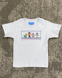 Anavini Toy Friends White Smocked Tee