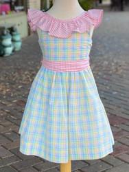 Bailey Boys Preppy Plaid Seersucker Dress