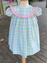 Bailey Boys Preppy Plaid Seersucker Float Dress