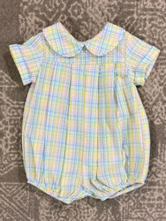 Bailey Boys Preppy Plaid Seersucker Dressy Bubble