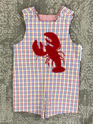 Bailey Boys Lobster Applique Reversible Jon Jon