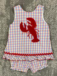 Bailey Boys Lobster Applique Bloomer Set