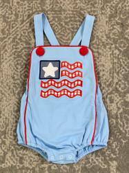 Three Sisters American Flag Boy Sunsuit