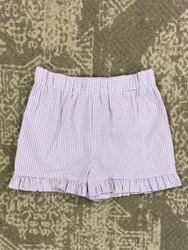Funtasia Too Lavender Seersucker Ruffle Shorts