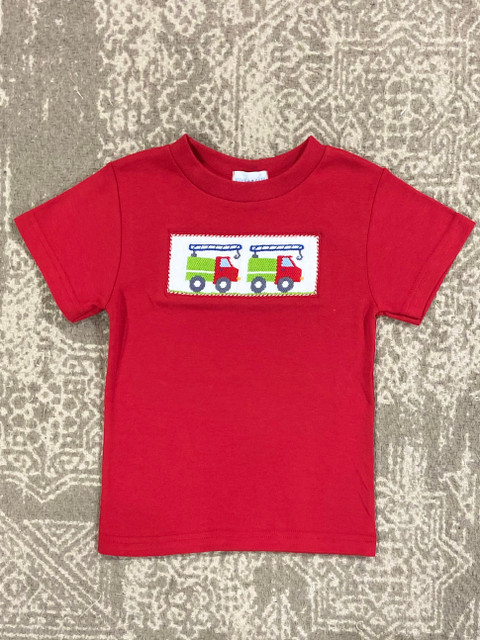Silly Goose Red Smocked Crane Tee