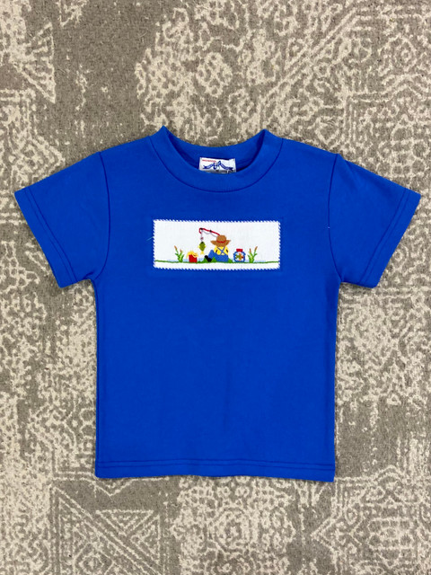 Silly Goose Royal Smocked Fishing Day Tee