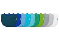 10 Pk Infant Bibs- Blue