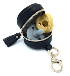 Itzy Ritzy Black Diaperbag Charm Pod Keychain