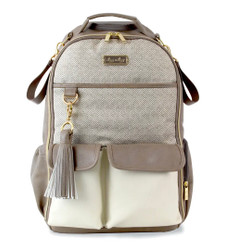 Itzy Ritzy Vanilla Latte Boss Backpack