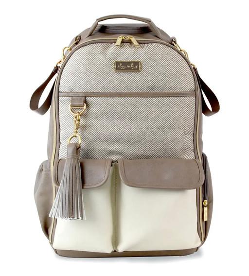 Itzy Ritzy Vanilla Latte Boss Backpack